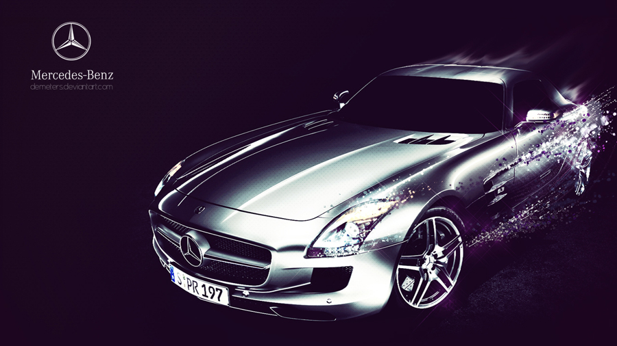 HD Background Mercedes Benz AMG Silver Color Side View Sunset 900x506