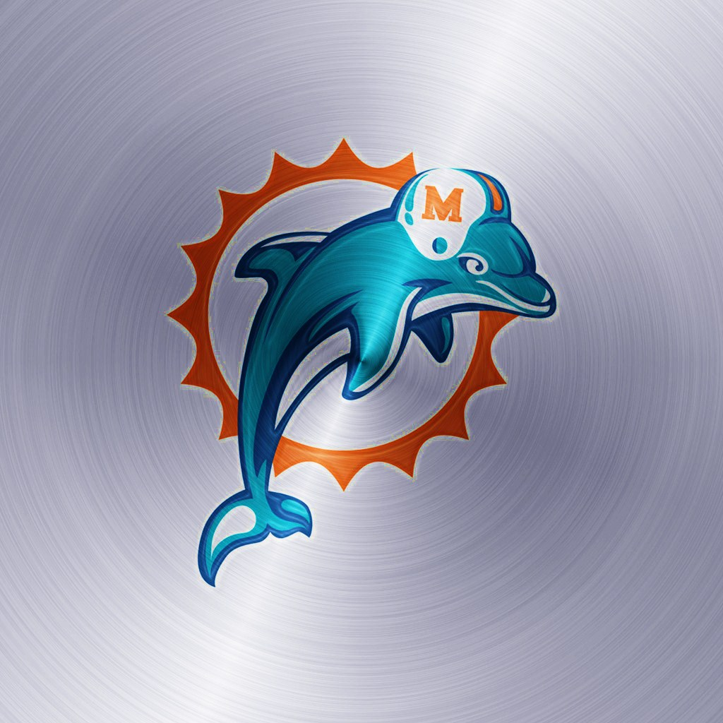 miami dolphins logo wallpaper  Miami Dolphins Logo Wallpaper MTWallPapers 1024x1024