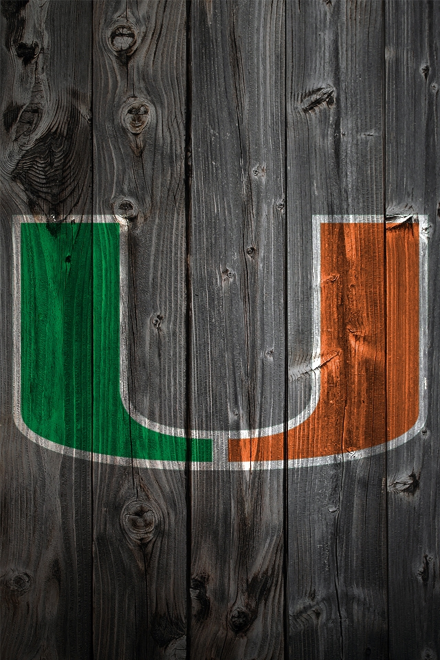 Hurricane Football Wallpaper University Of Miami Hurricanes 640x960