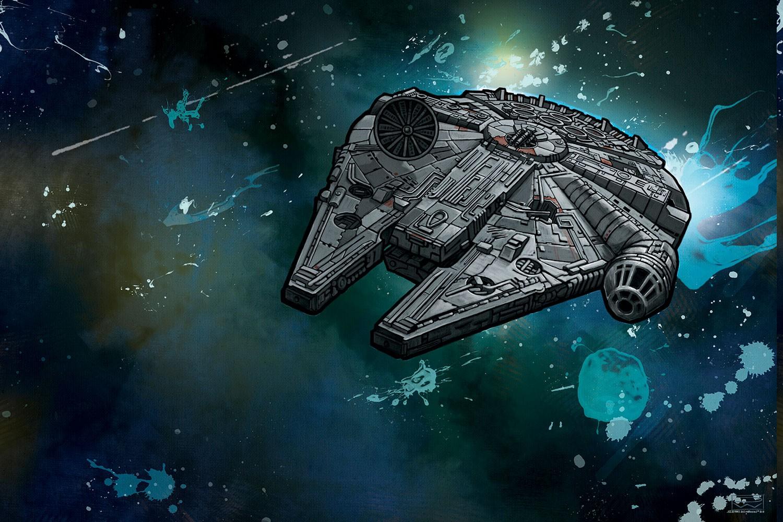 Star Wars Millennium Falcon Space Ship Combat Action Adventure 1500x1000