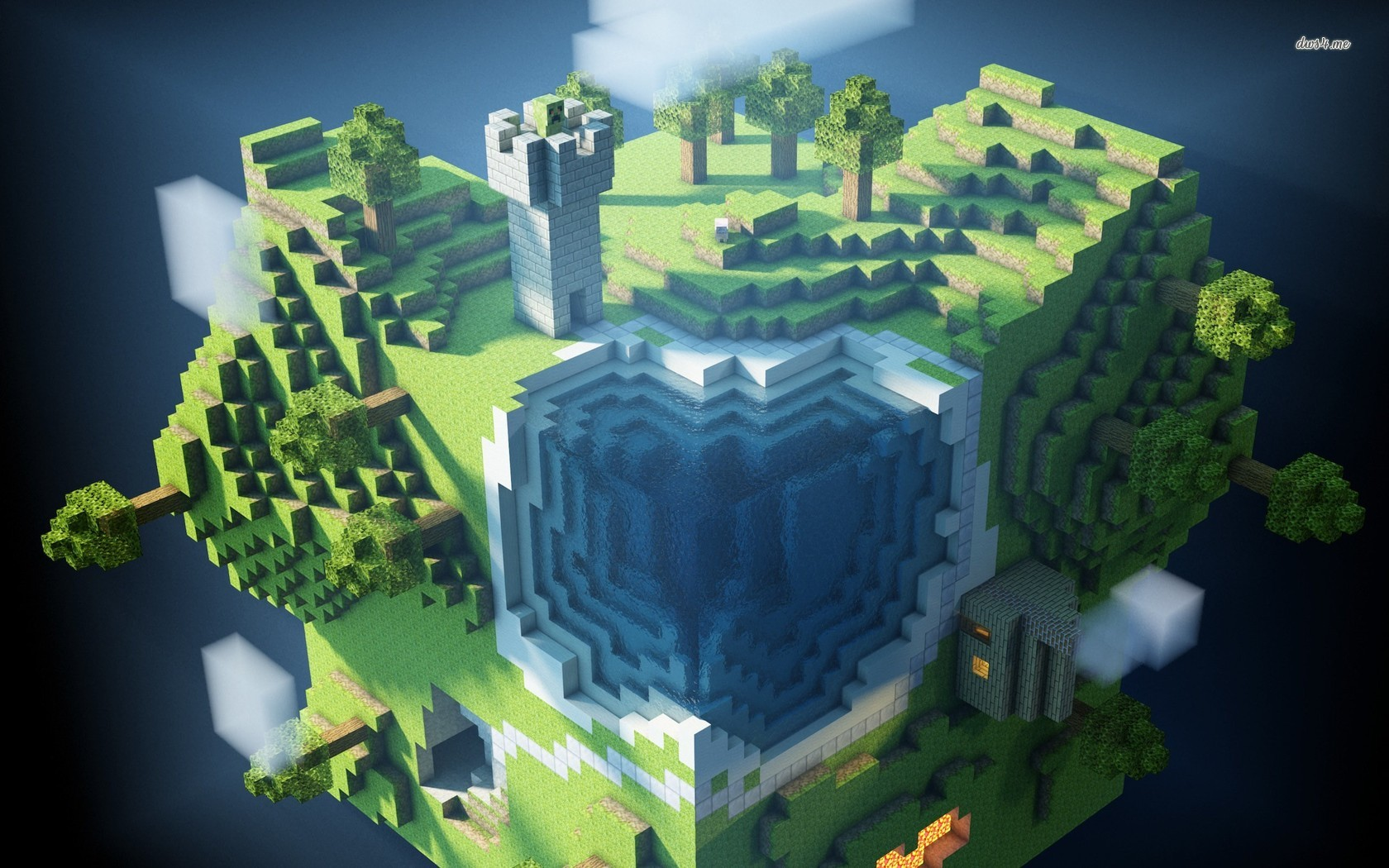 Popular Wallpaper Minecraft Landscape - Minecraft-Wallpapers-1680x1050-027  Photograph_732111.jpg