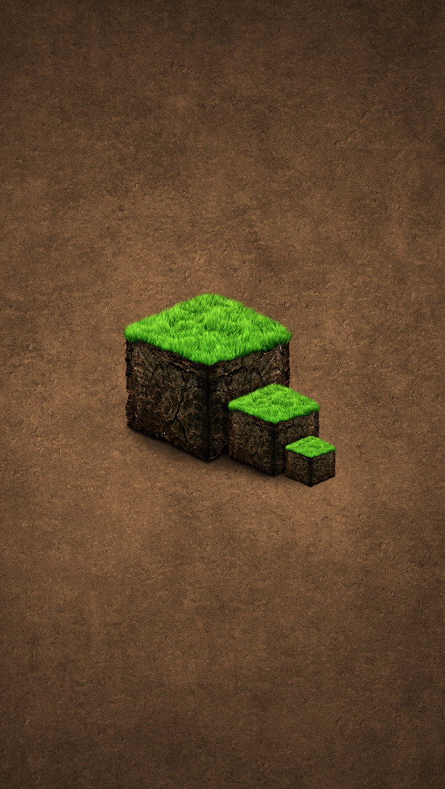 Minecraft iPhone wallpaper for , s, c  iphonewallpaperhd Minecraft Block  iPhone  Wallpaper  640x1136