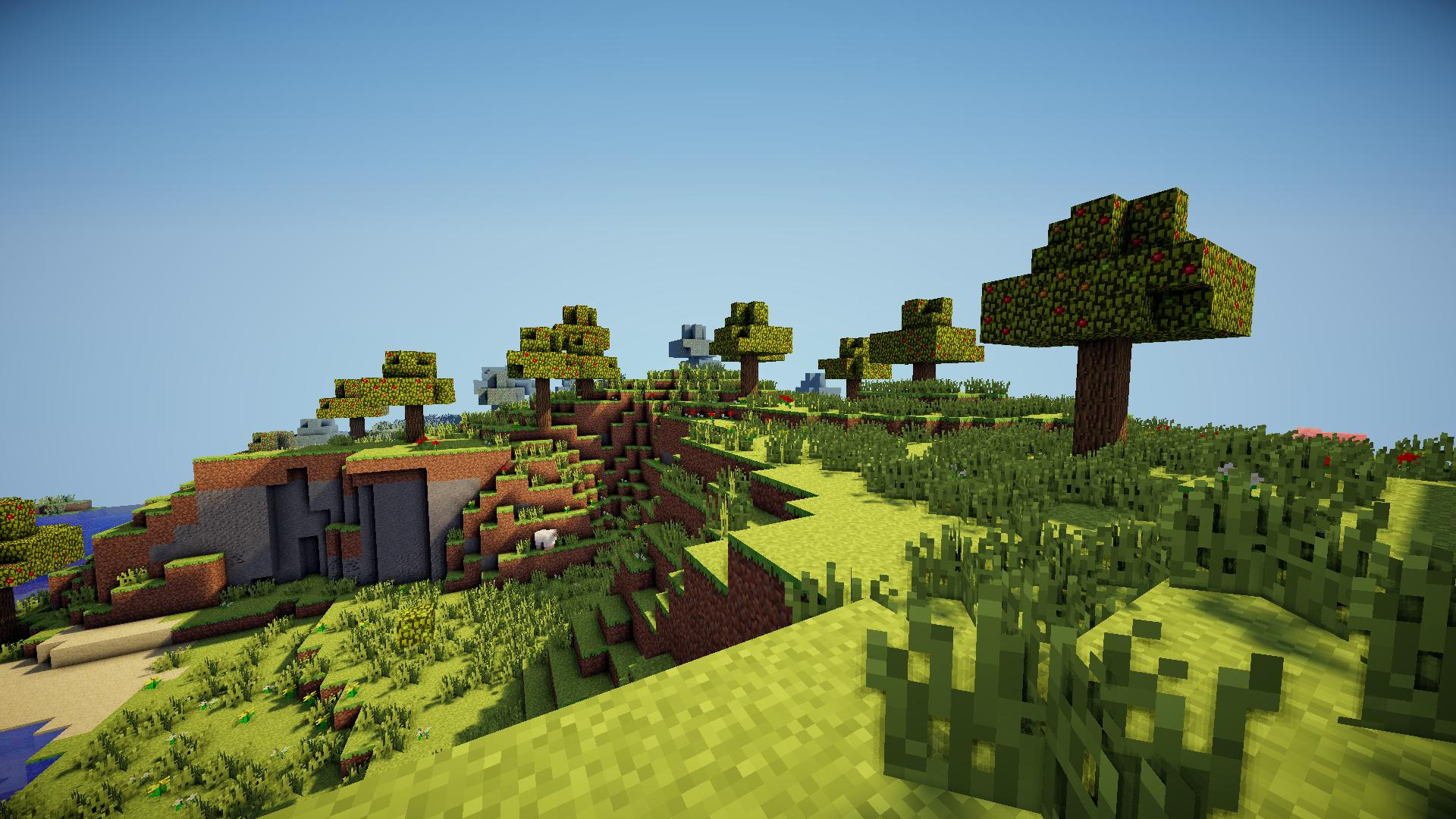 Minecraft Shaders Background Group 1920x1080