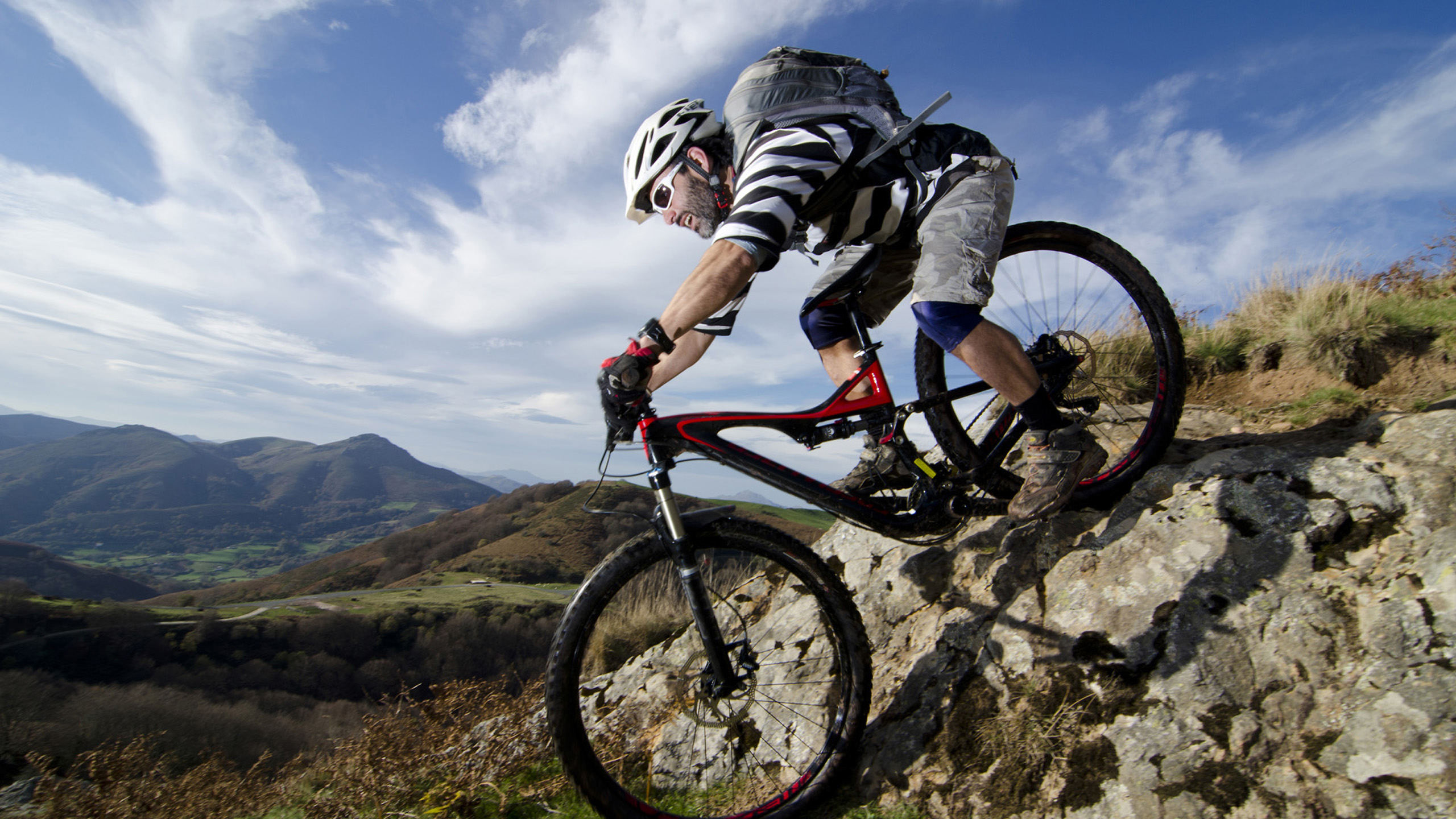 mountain bike hd wallpapers backgrounds wallpaper 2560x1440, Powerpoint templates