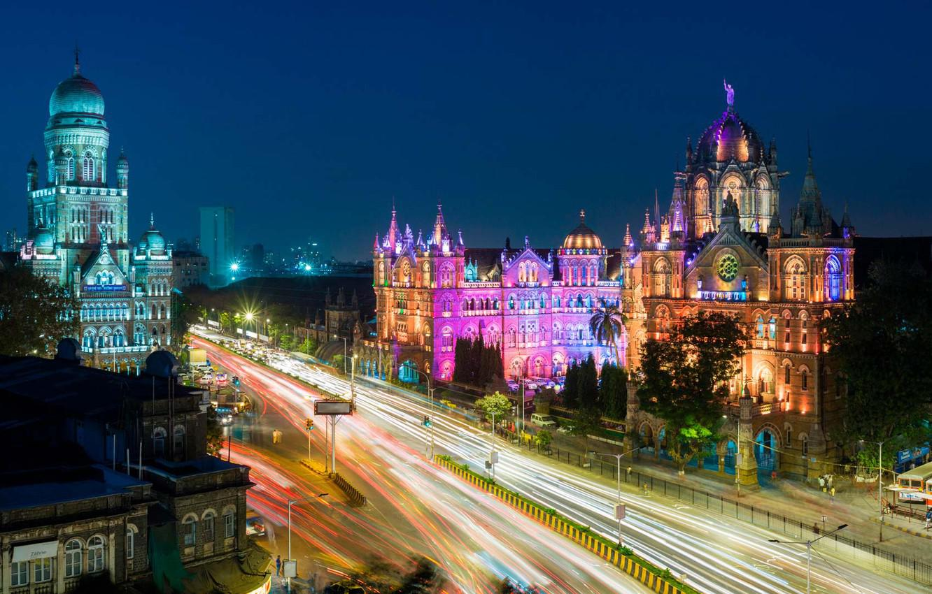 magnificent vintage train station in mumbai india Other