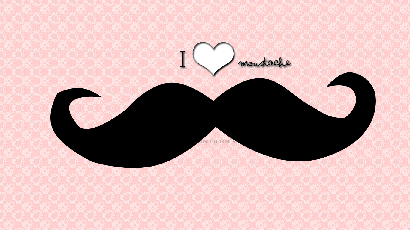 Mustache wallpaper  wallpaper free download 1366x768
