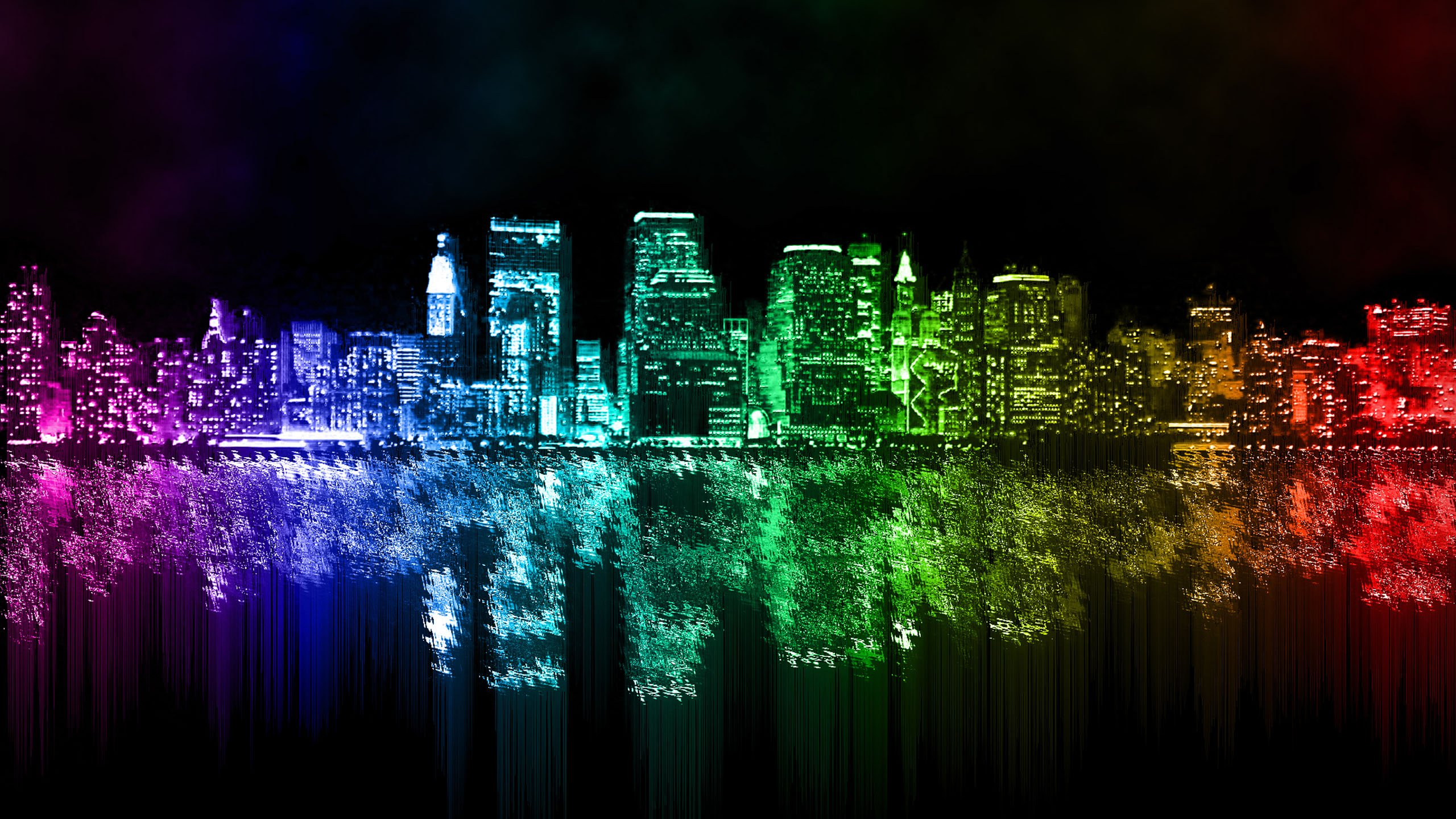New York City Skyline At Night Wallpaper Space Wallpapers In Toplist 2560x1440