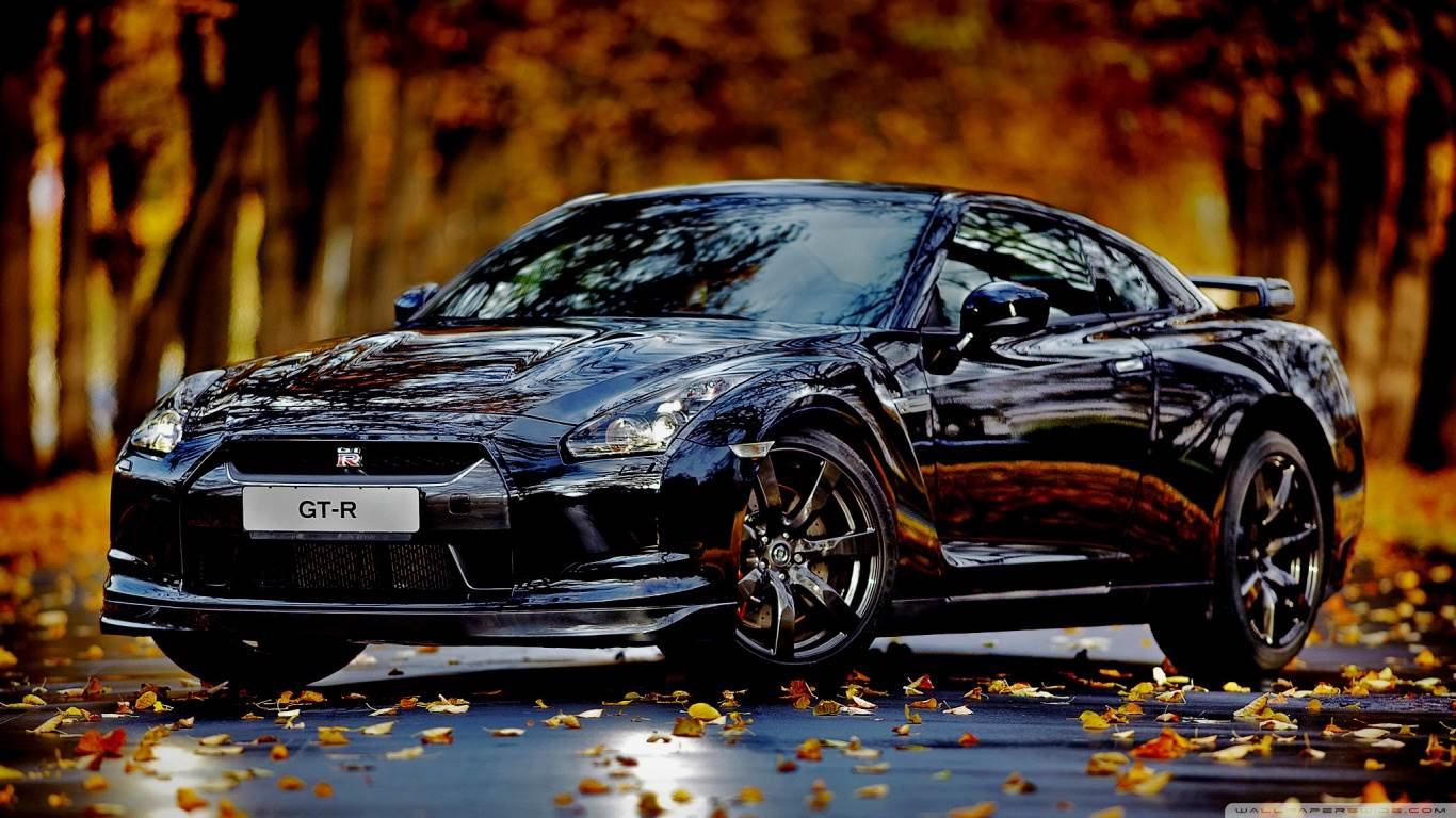 Nissan Skyline GTR Autumn HD desktop wallpaper : Widescreen : High Definition : Mobile