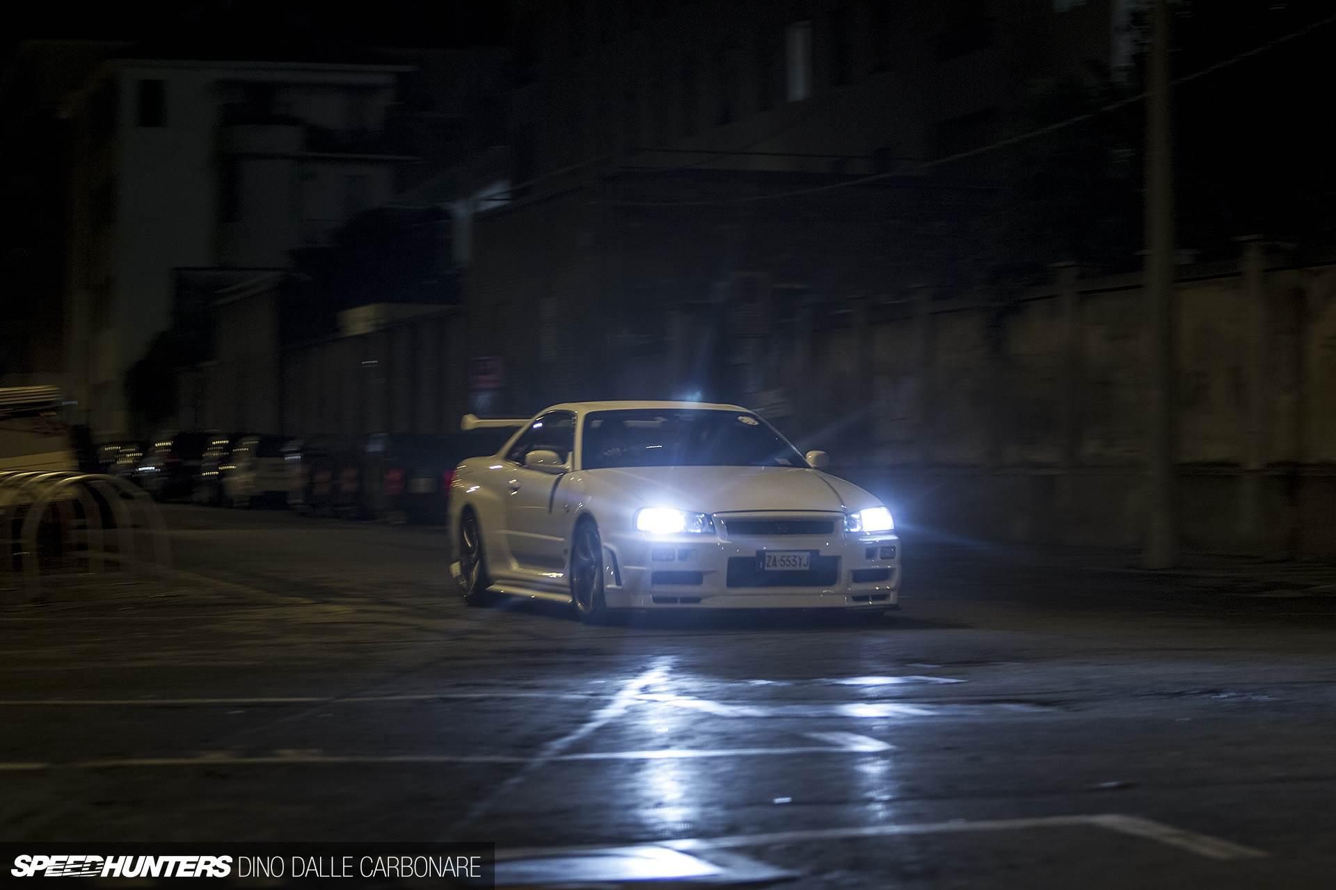Nissan Skyline R34 Gtr V Black Car Night Wallpaper Cars