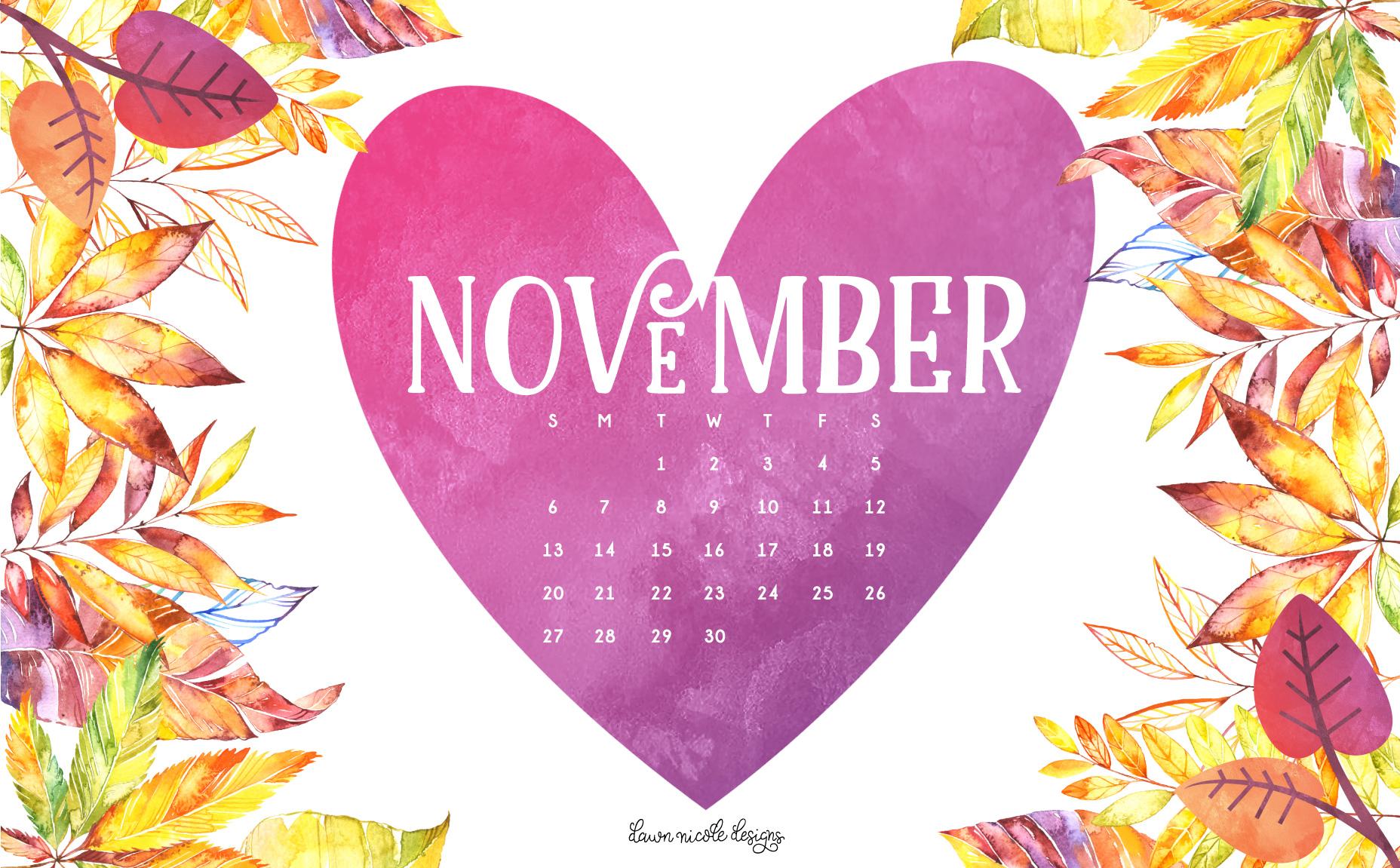 Desktop Wallpapers Calendar November Wallpaper 1856x1151