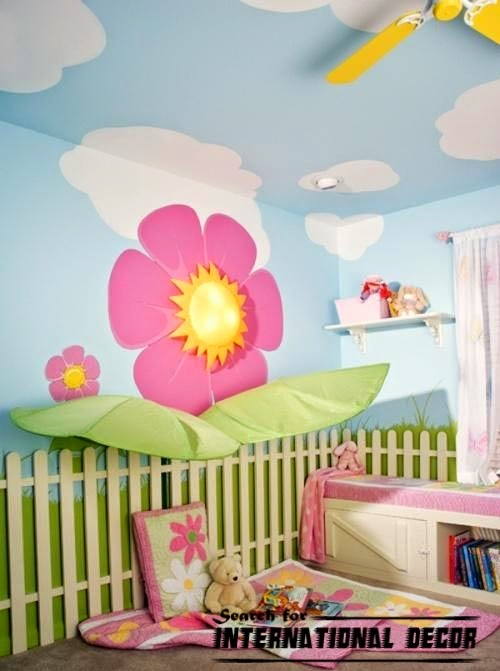 Removable Nursery Wallpaper for Kids Rooms Orchard 500x671