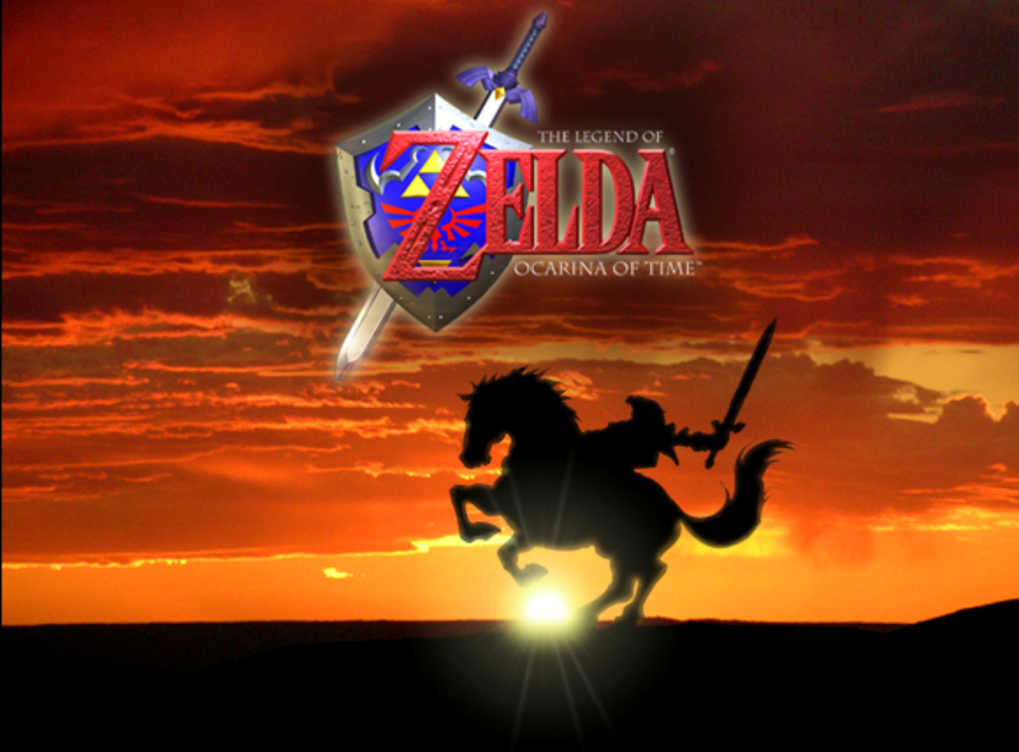 legend of zelda ocarina of time d wallpaper 2000x1476