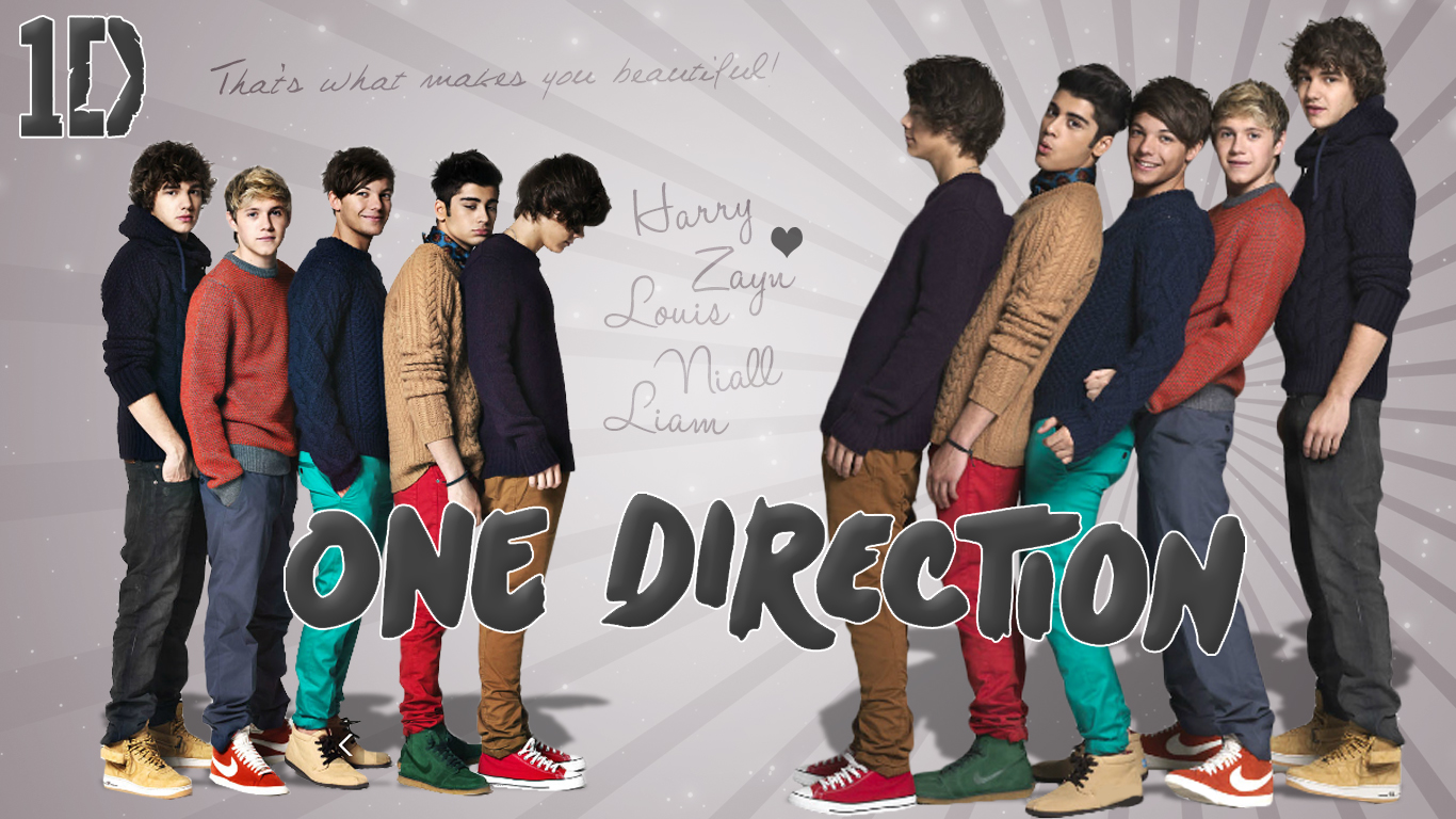 One Direction Wallpaper One Direction Hd Wallpapers 1366x768