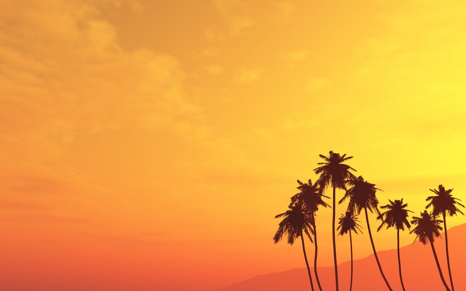 Beach And Palm Trees Wallpaper Free Photoshop Brushes At