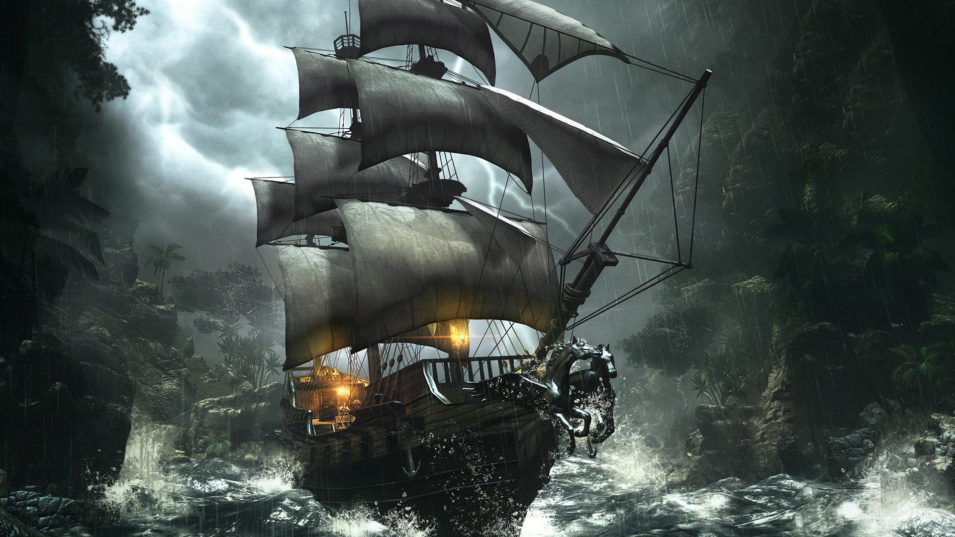 Pirates images pirate ship hd wallpaper and background photos 1920x1080 - Walpepar photos ...