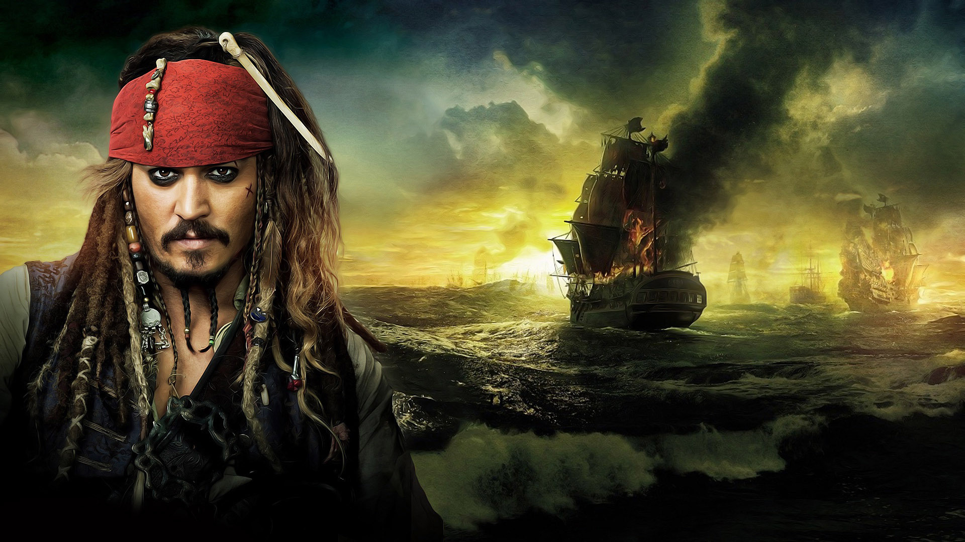 Jack Sparrow from Pirates of the Caribbean On Stranger Tides 1920x1080