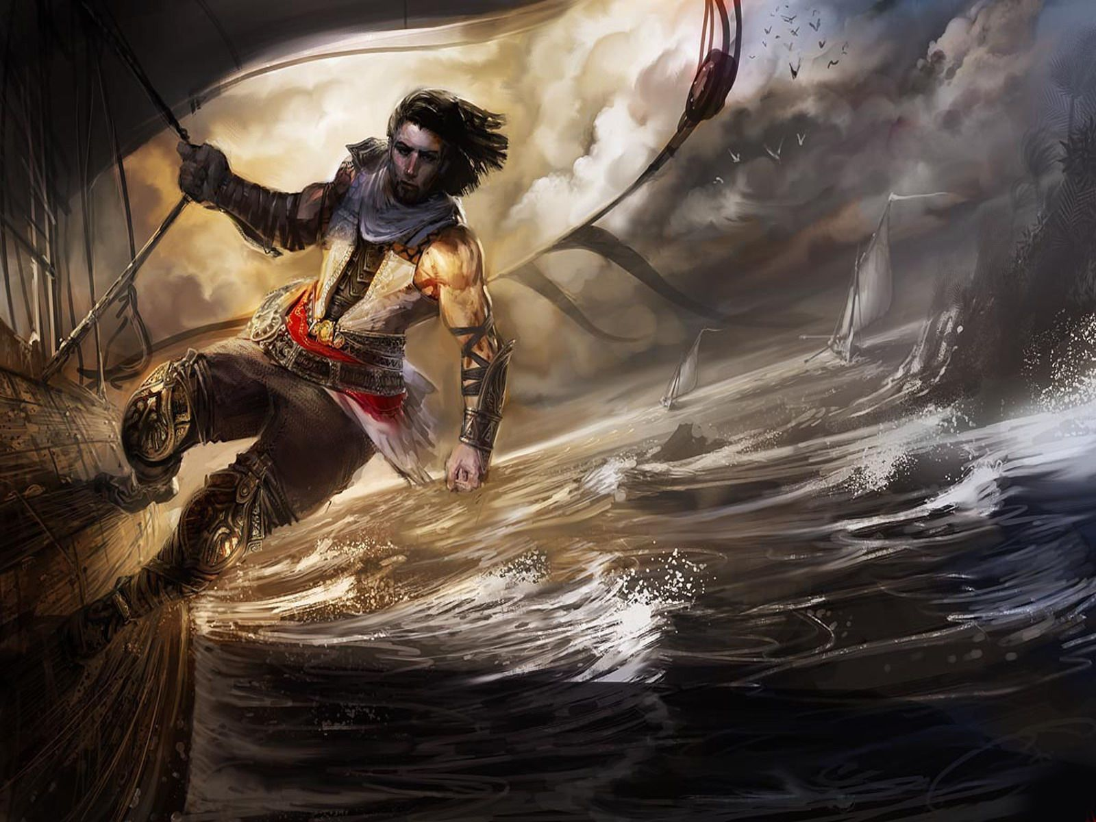 my free wallpapers games wallpaper : prince of persia 1600x1200