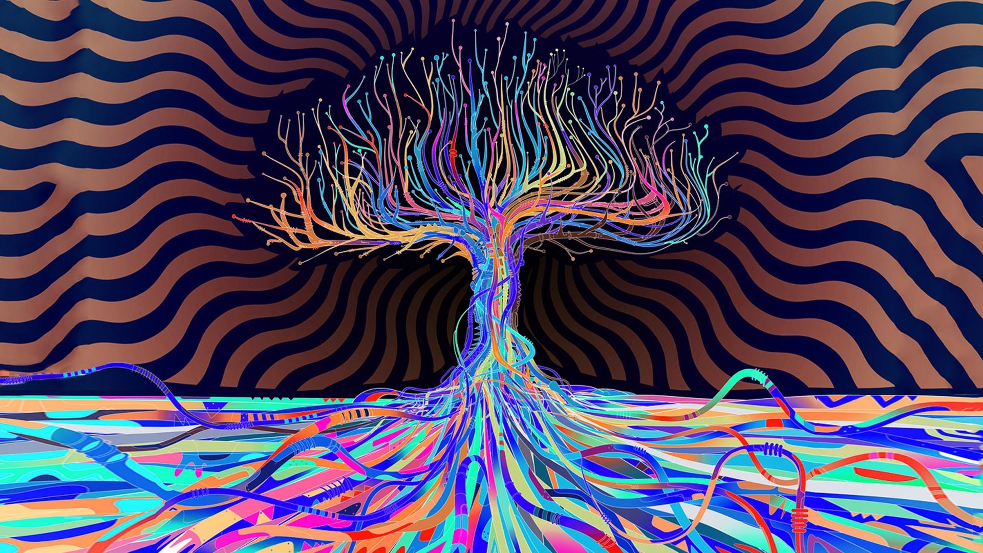 Dark psychedelic wallpaper 1920x1080