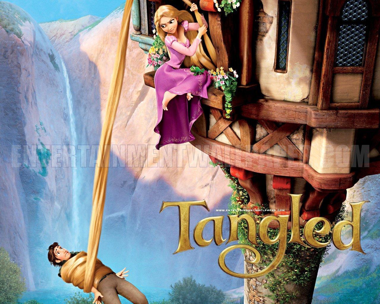 Tangled Rapunzel Flynn And Maximus HD Desktop Wallpaper 1280x1024