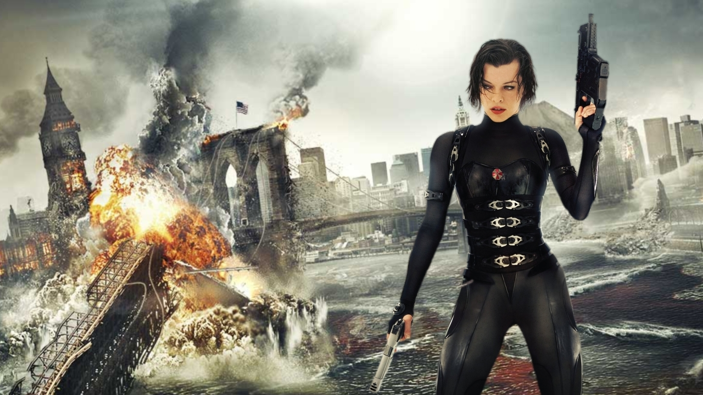 Resident Evil Movie Wallpapers Wallpaper 1366x768