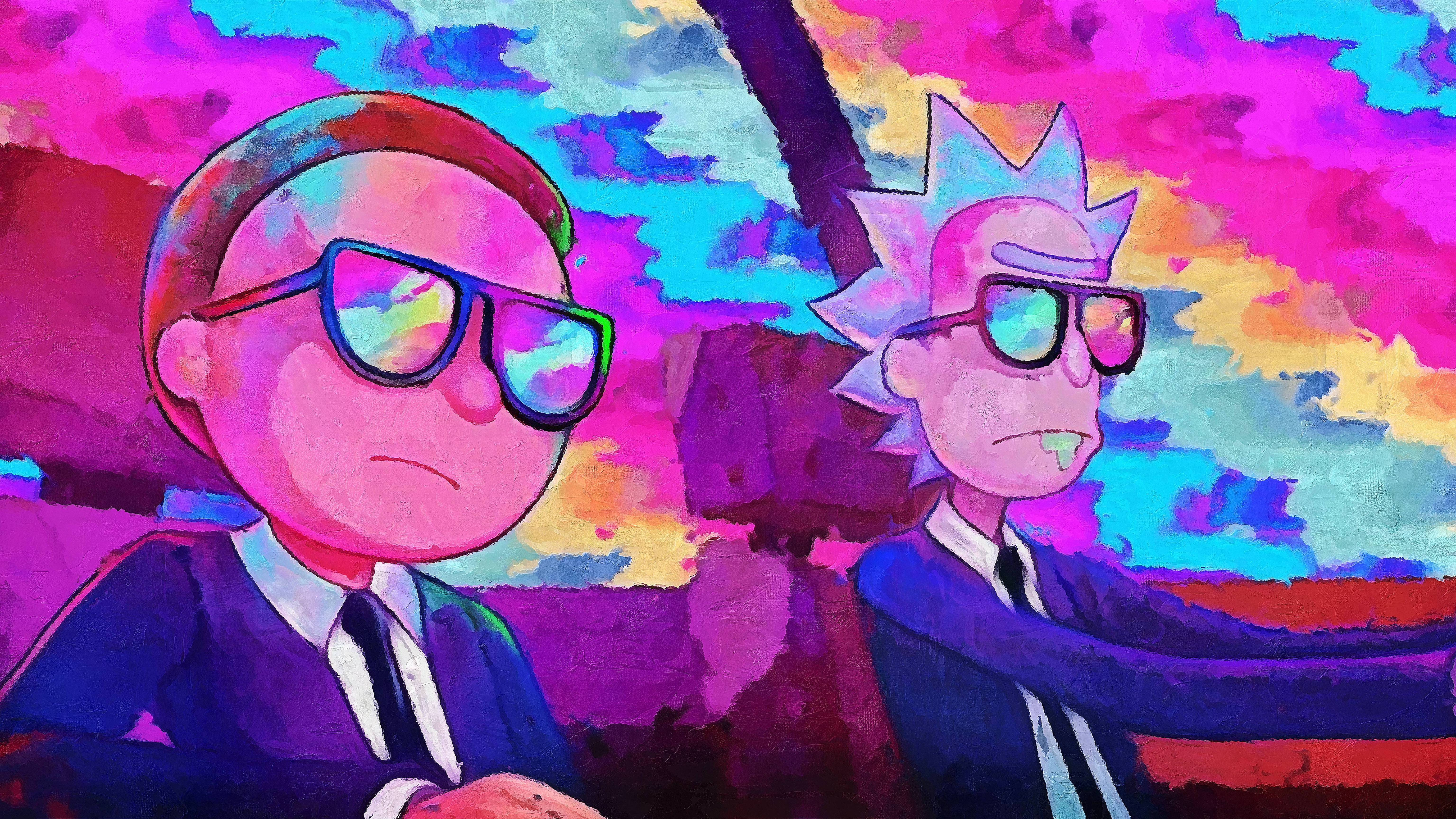K Rick and Morty Wallpaper I Created From Run The Jewels