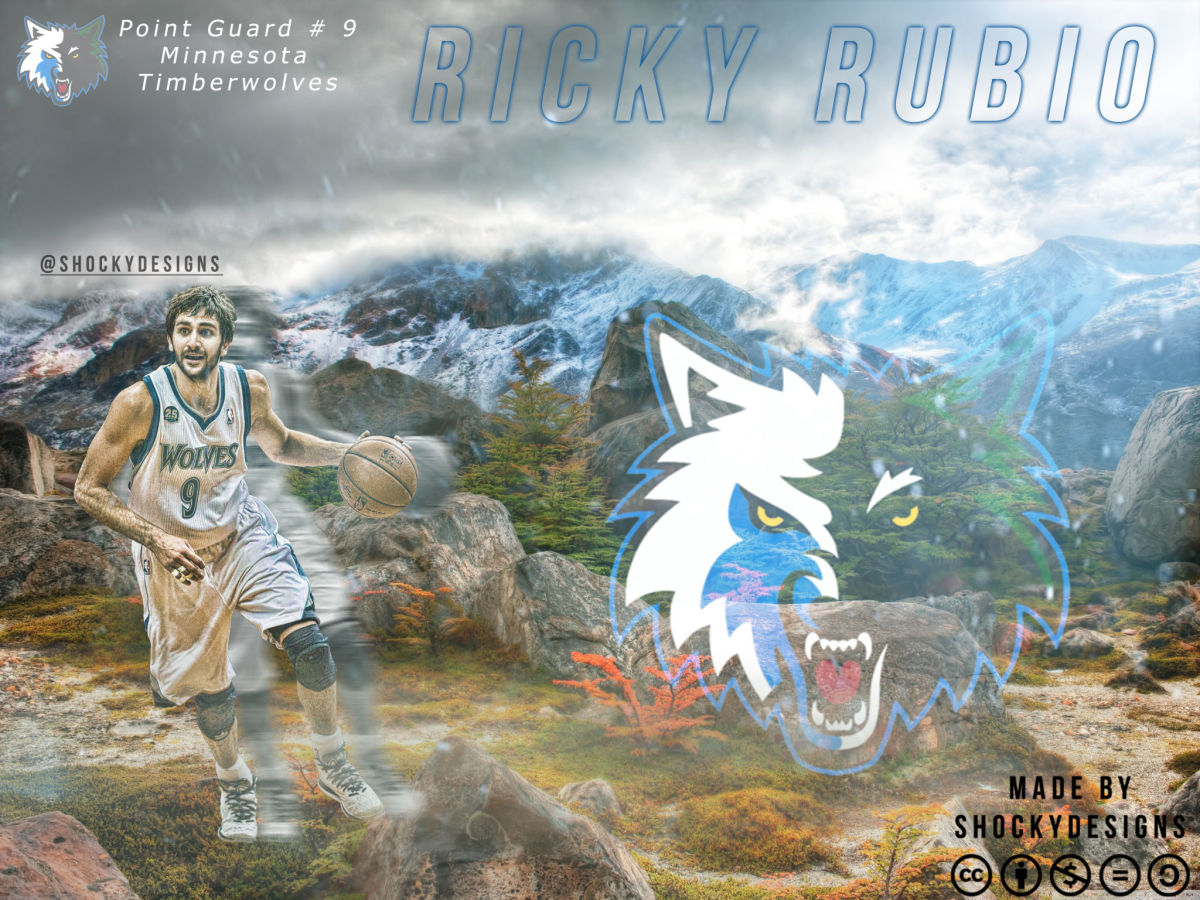 Minnesota Timberwolves, Ricky Rubio  NBA wallpaper from HoopsArt 1200x900