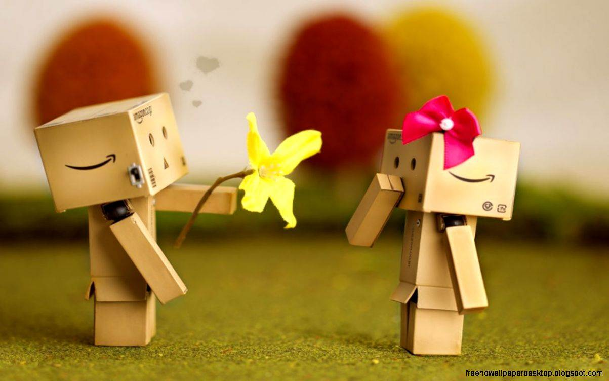 Danbo Love Best Romantic Hd Wallpaper Free High Definition Wallpapers