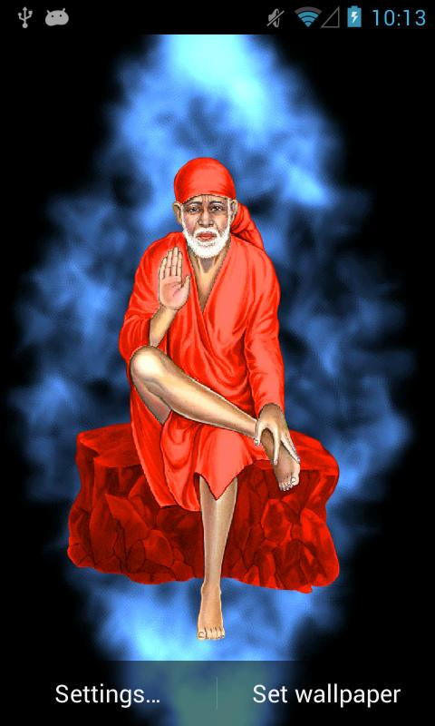 Shirdi Sai Baba D With Red Background Hd Wallpaperrhwhoain