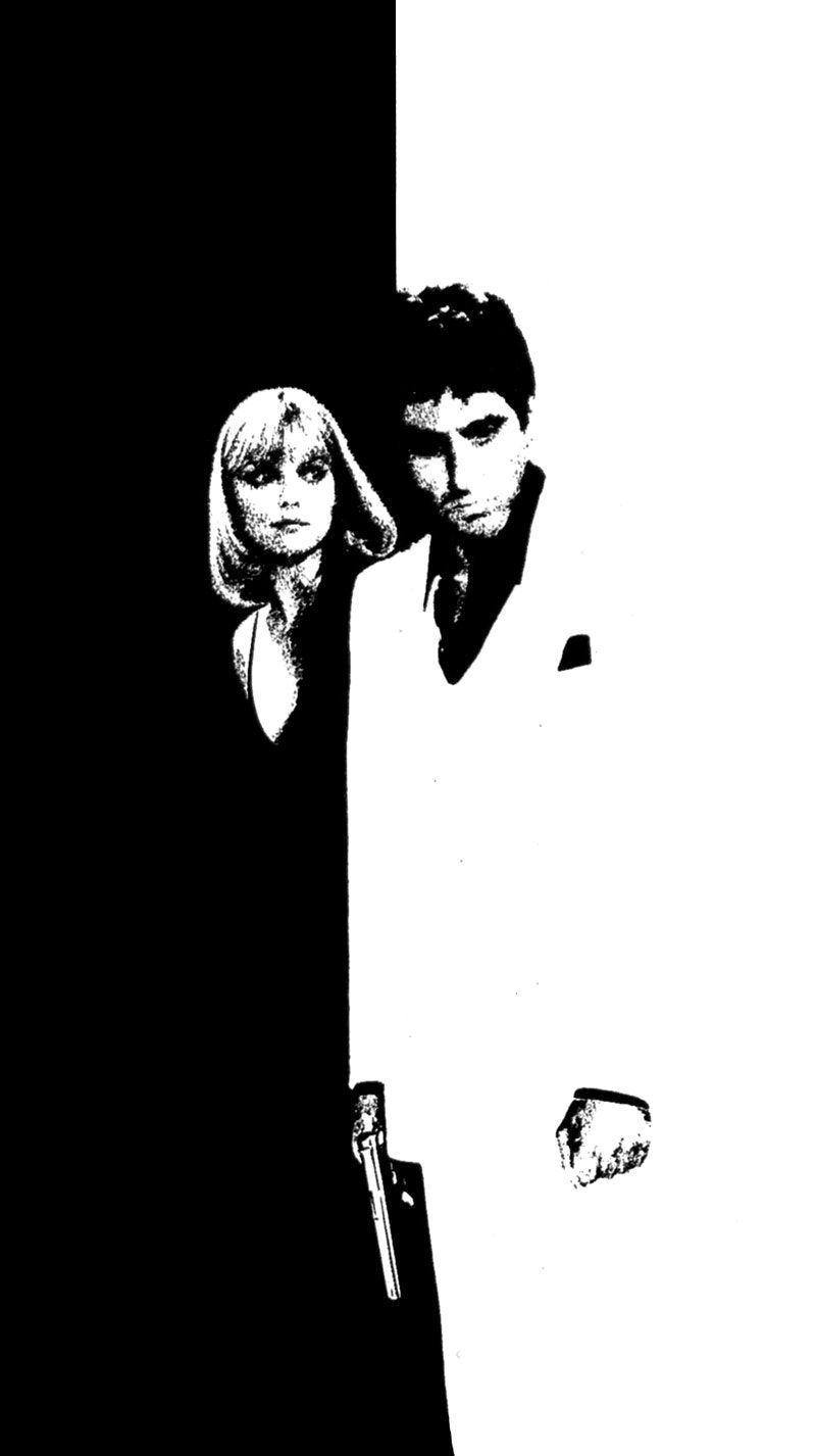 Scarface Wallpaper Black And White 13 Wallpapers