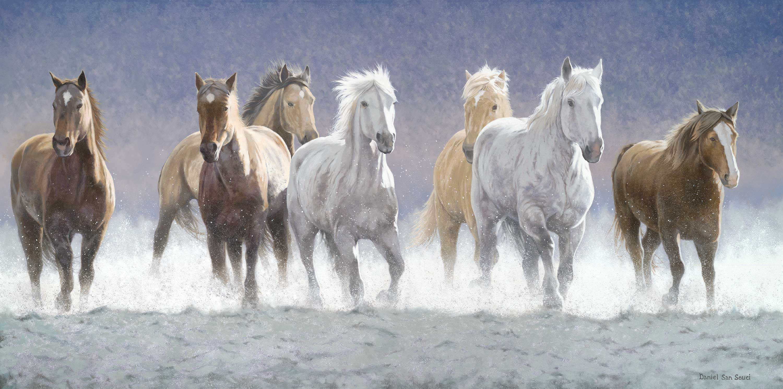 Vastu Running Seven Horse Painting Vastu Paintings Pinterest