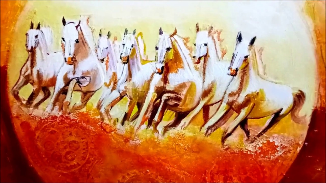 Seven Horses ArtsNyou Printed Paintings Canvas Art Art