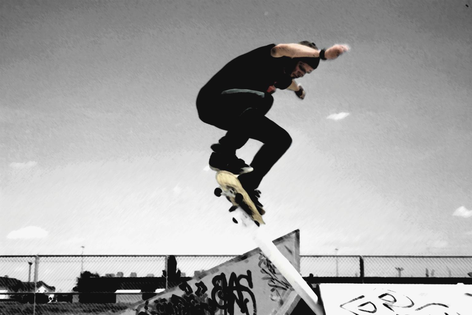 Skateboarder Girl Skateboarding Wallpaper HD For Desktop