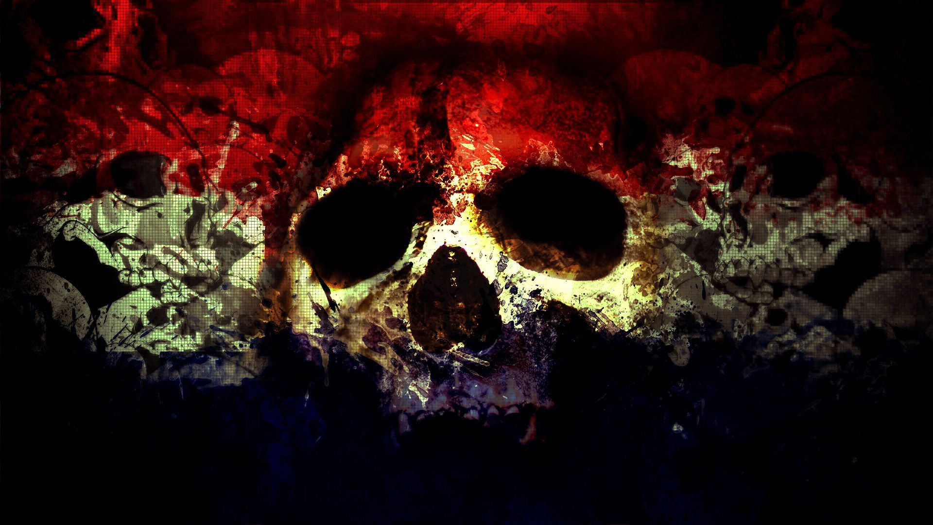 Cool Wallpapers Skulls Group  1920x1080