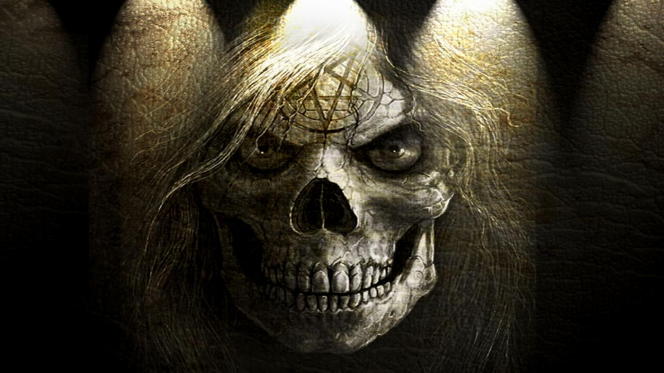 black skull hd desktop wallpaper high definition fullscreen 1366x768