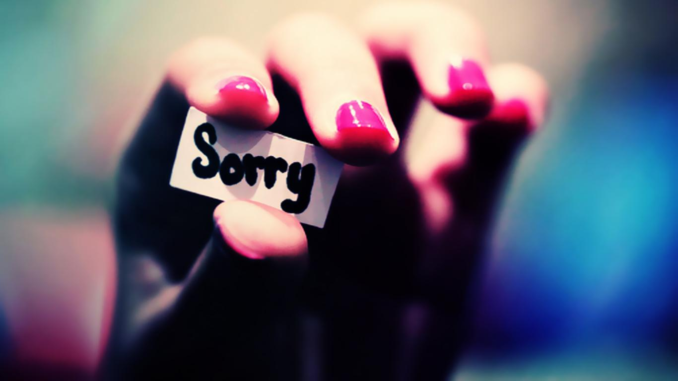 Sorry Wallpaper Images For Free Download 1366x768