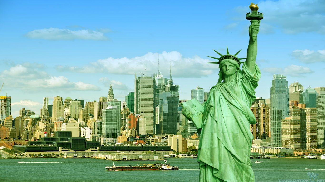 Statue Of Liberty Wallpapers And Images Pictures Photos 1366x768