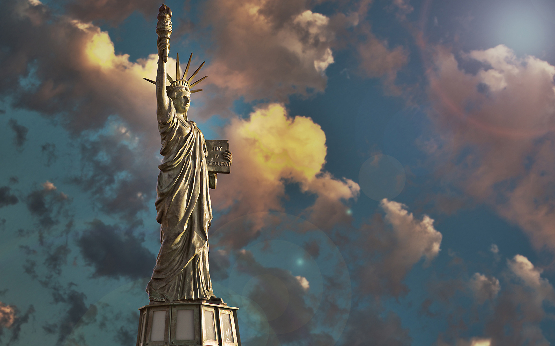 Wallpaper Statue of Liberty   1920x1200