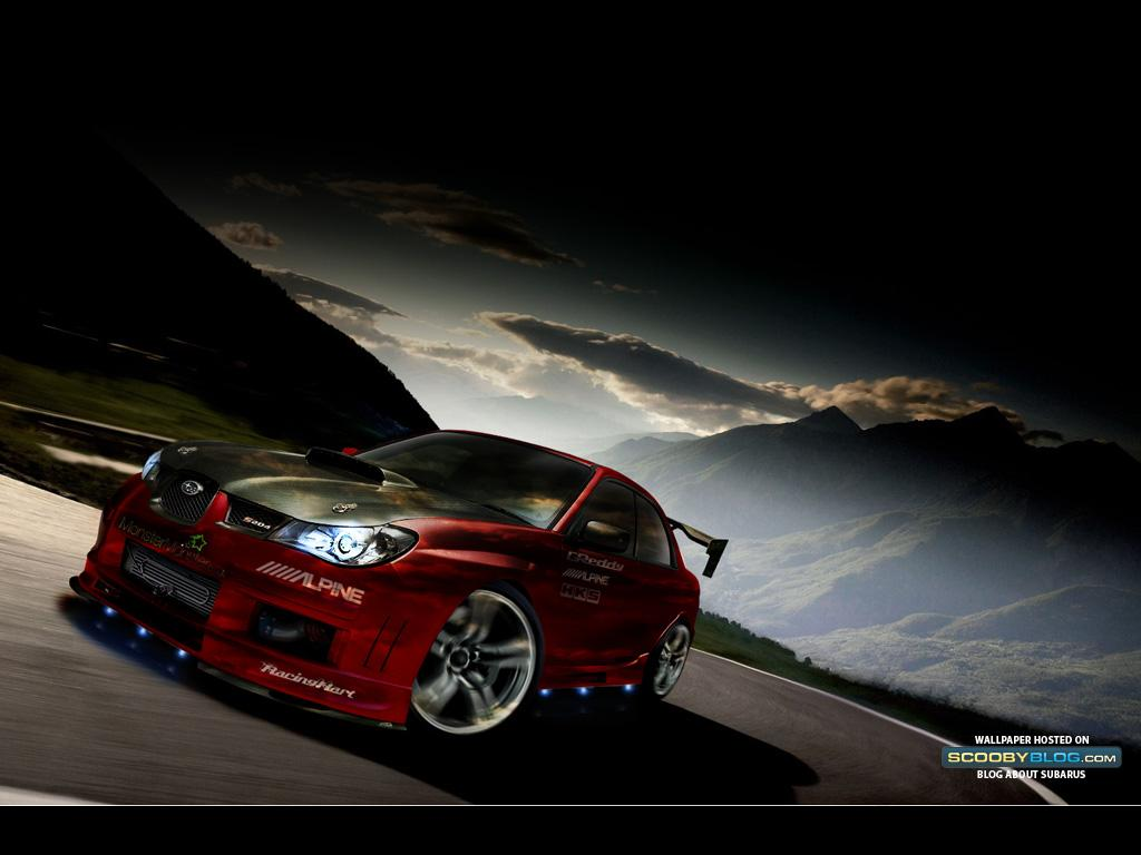 Subaru Impreza WRX On Snow HD desktop wallpaper : High Definition 1024x768