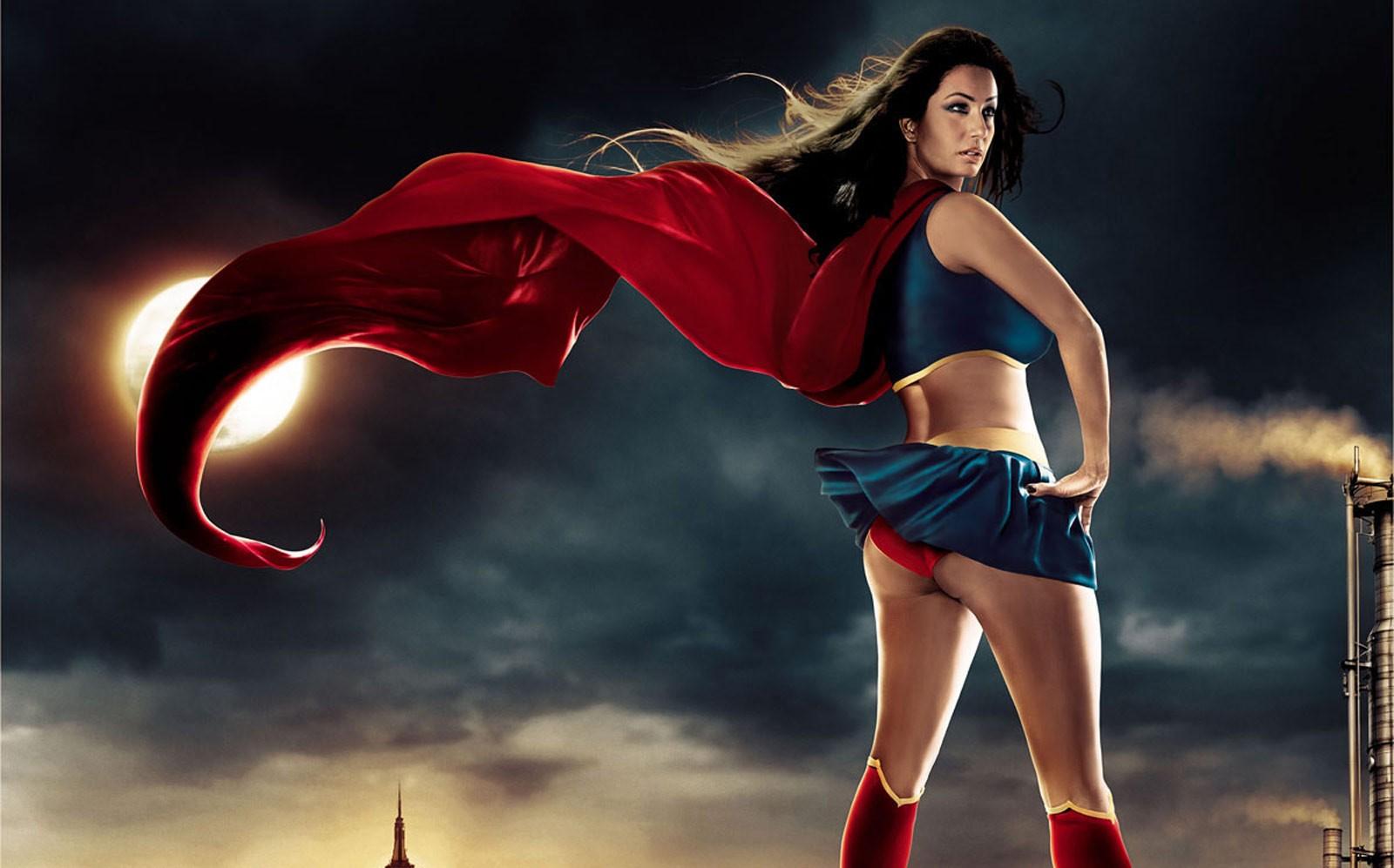 Superwoman Body Paint