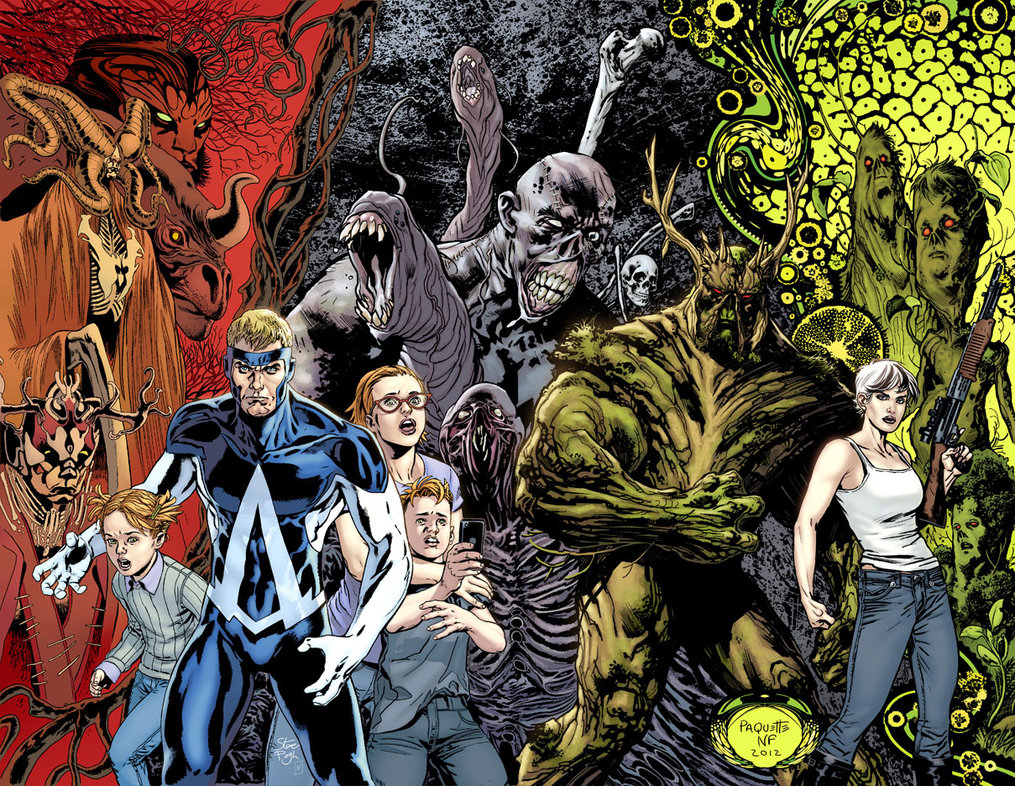 SWAMP THING and ANIMAL MAN Final by YanickPaquette on
