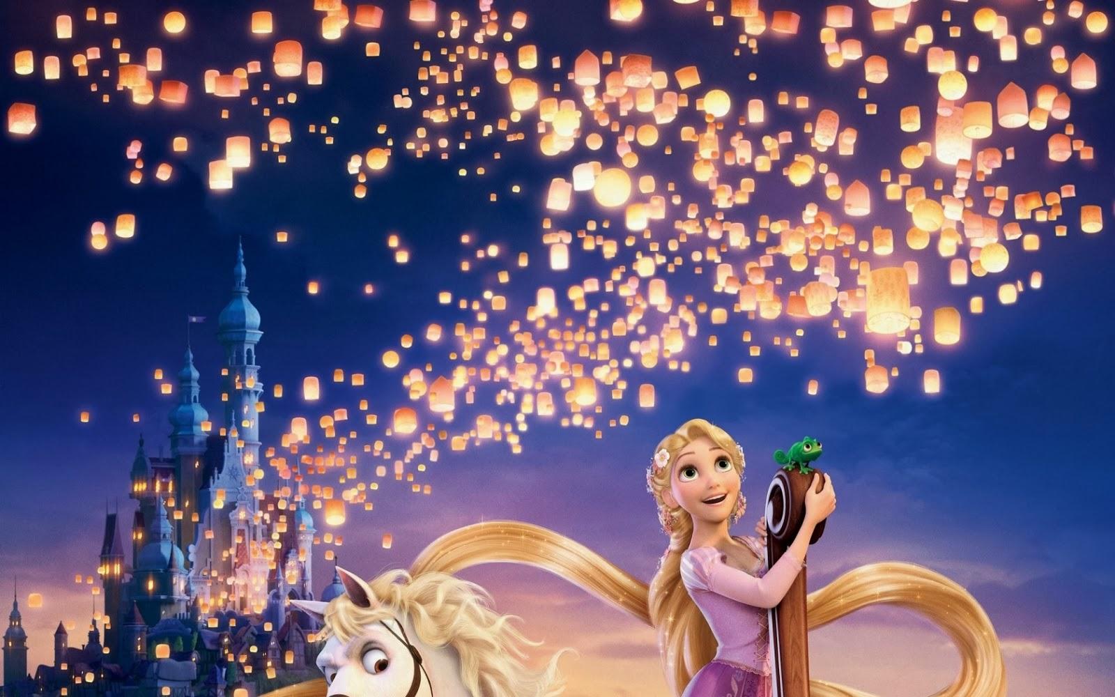 Tangled Lanterns Wallpaper 1600x1000
