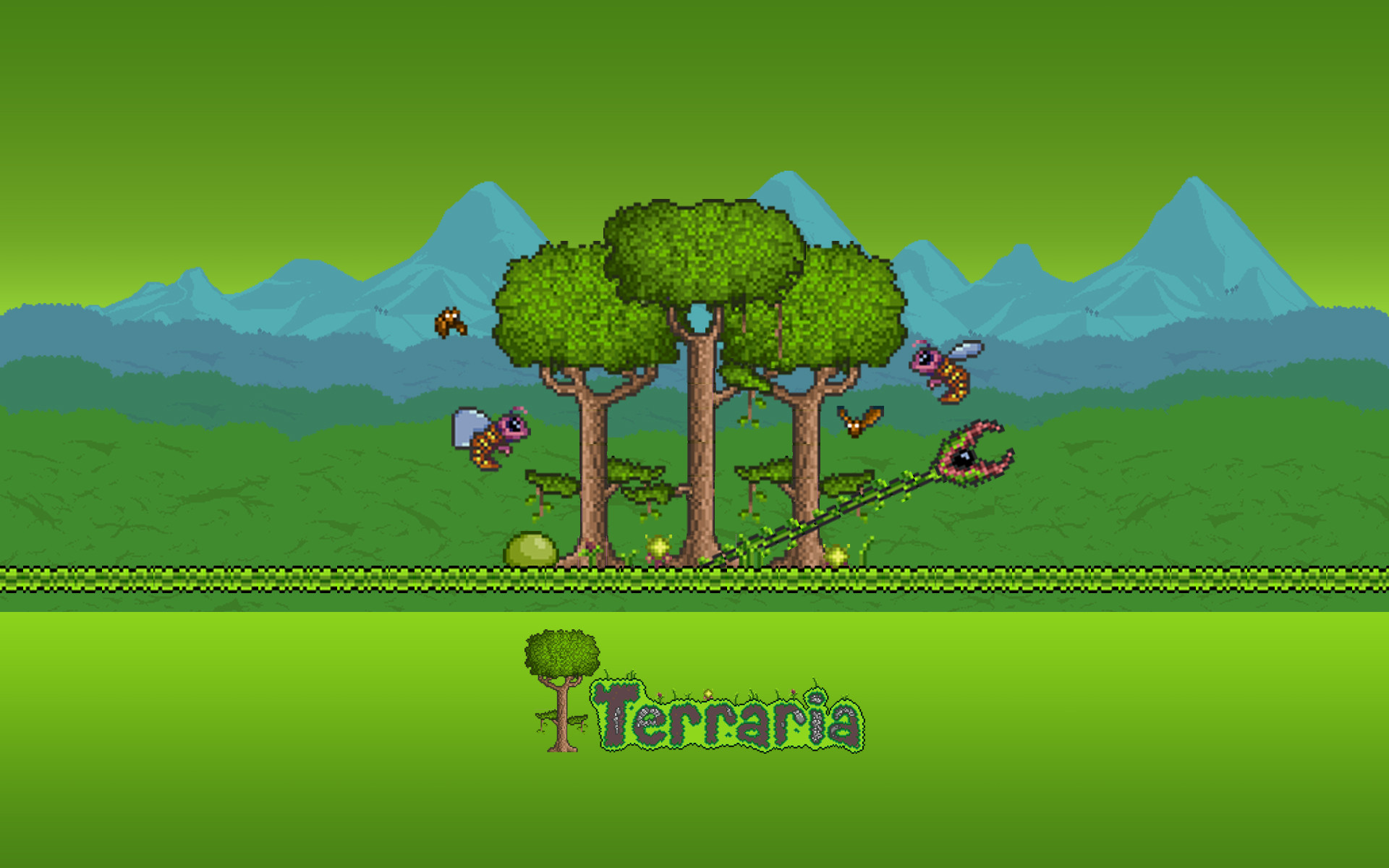 Terraria Wallpaper Try  by MagicalBoyz on DeviantArt 1920x1200
