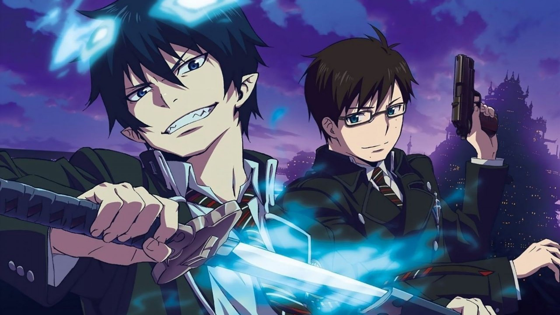 Shiemi, Rin and Yukio from Blue Exorcist wallpaper  Anime 1920x1080