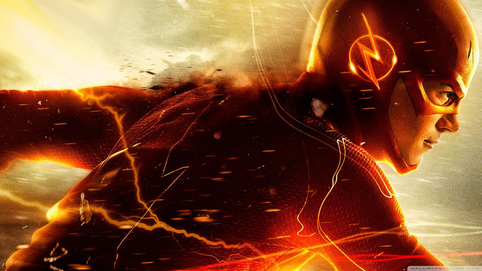 The Flash logo HD wallpapers free download 1600x900