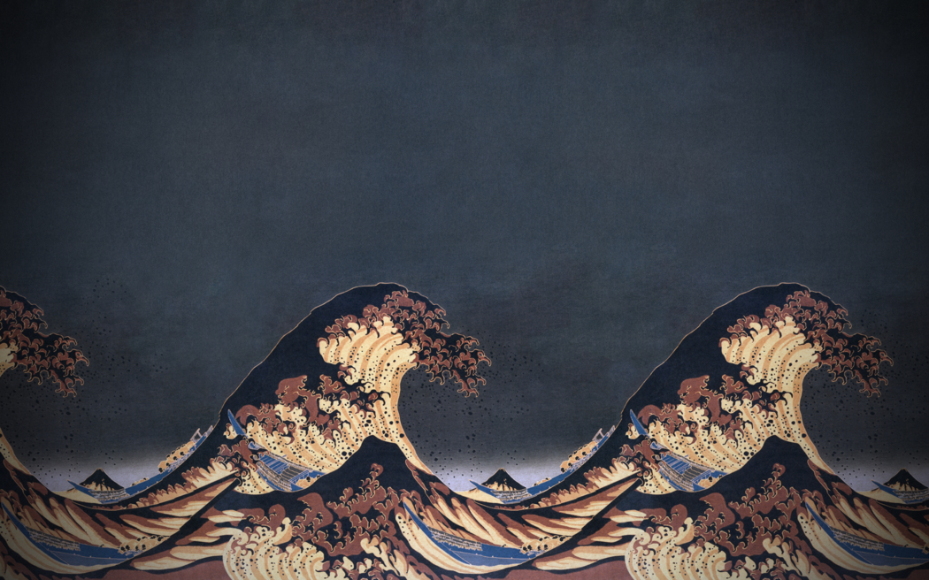 nature, Blue, The Great Wave Off Kanagawa Wallpapers HD / Desktop 1050x656