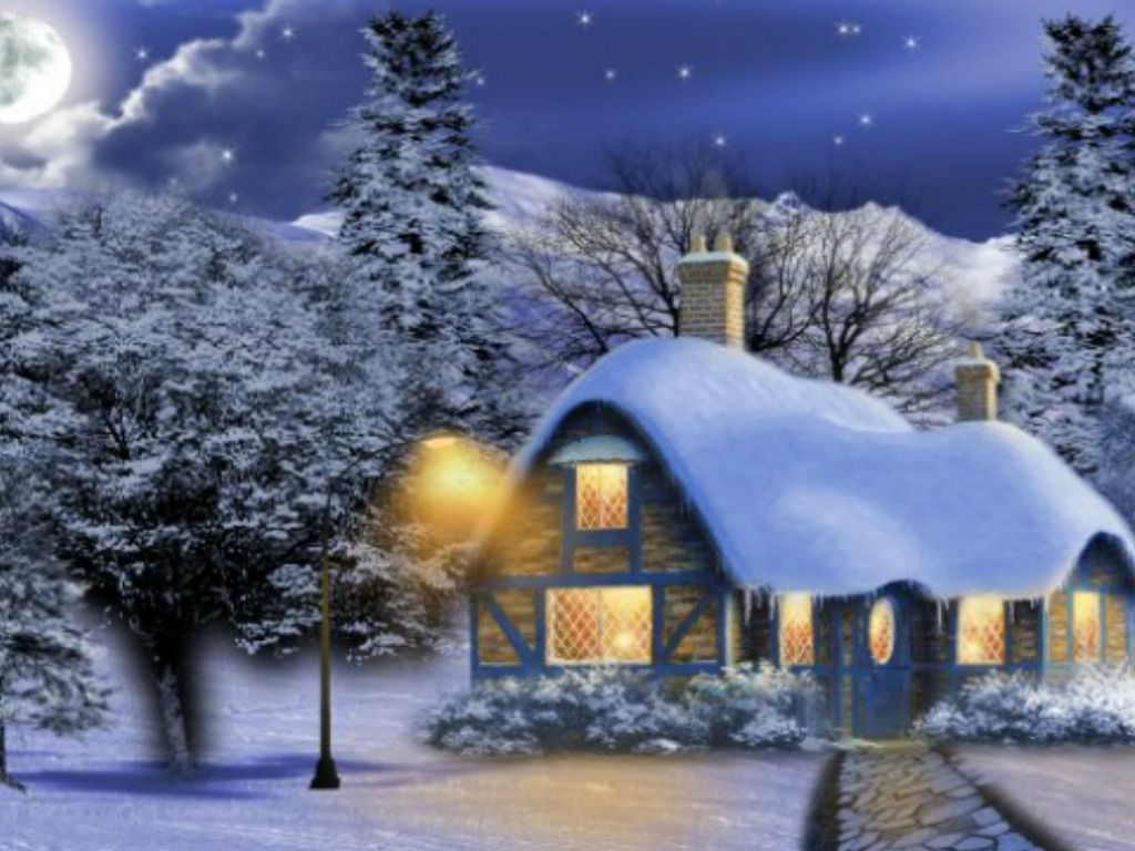 Winter images Thomas Kinkade Winter HD wallpaper and background 1024x768