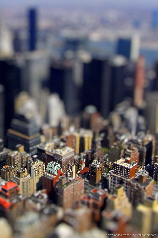 Awesome Tilt Shift HD Wallpaper Free Download 640x960