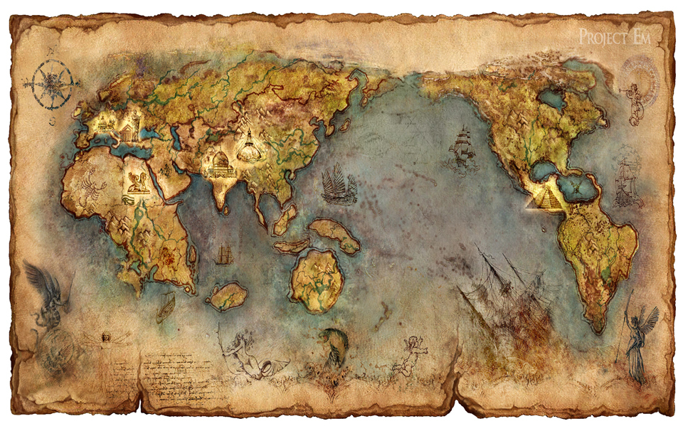 Treasure map  Fantasy  Abstract Background Wallpapers on Desktop 960x606