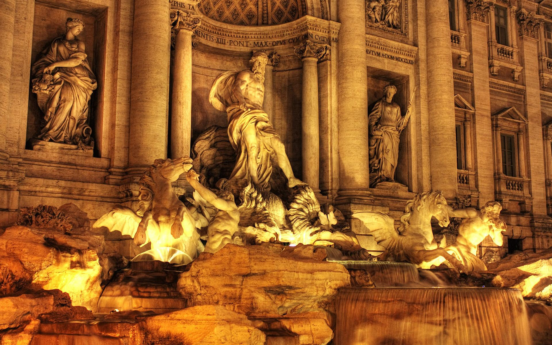 Trevi Fountain  wallpaper Trevi Fountain HD desktop wallpaper : Widescreen : High Definition 1920x1200