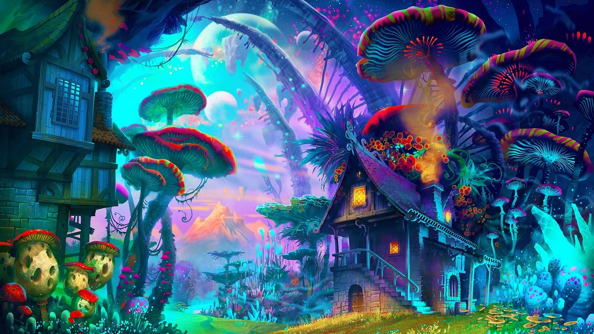 Wallpaper hd psychedelic - Trippy nature wallpaper ...